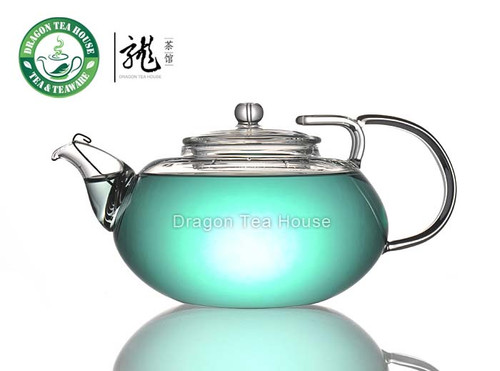 Chinese Clear Glass Non-slip-lid Teapot 360ml FH-245