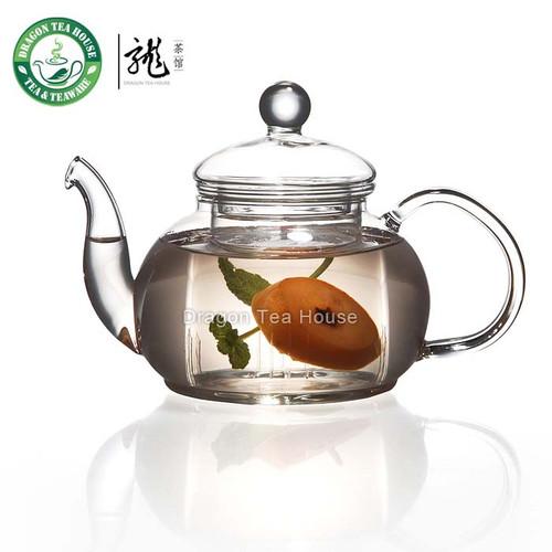 Clear Glass Teapot 600ml 20oz B-202F