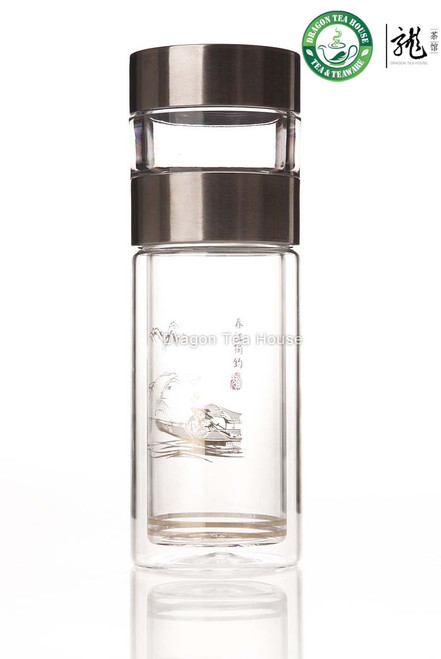 Double Wall Clear Glass Thermos Flask 260ml FGH-2185