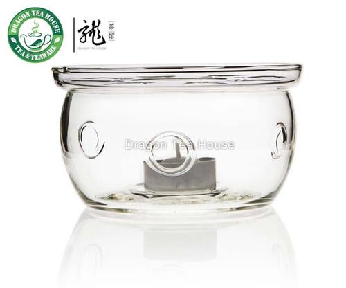 Flat Bottom Clear Glass Teapot Tealight Warmer B-202B