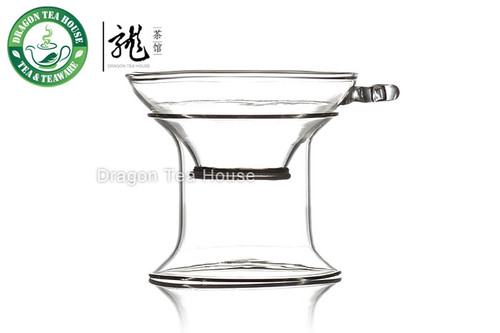 Clear Glass Mesh Strainer & Stand For Gongfu Tea