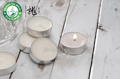 Dye Free White Unscented Smokeless Soy Tea Lights * 10