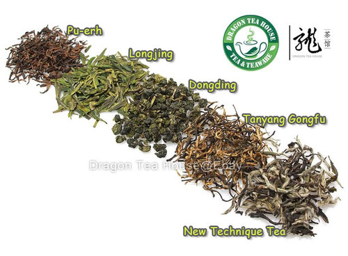 5 Types Assorted Premium Tea Trial Value Pack 10g*5