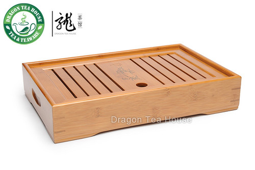 Slatted Box * Tea Serving Bamboo Tray 35*23cm XH-009 M