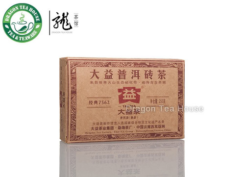 7562 * Menghai Dayi Pu-erh Tea Brick 2010 Ripe 100g Loose Sample