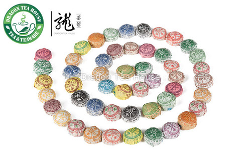 Premium Lao Cang Mini Tuo Cha Puer Tea Assortment 100 Pcs