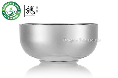 Large Double Wall Stainless Steel Teabowl 500ml 16.9oz