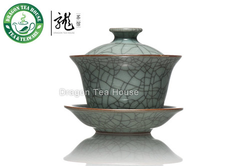 Long Quan Ge Yao Ice Veins Celadon Gaiwan 120ml