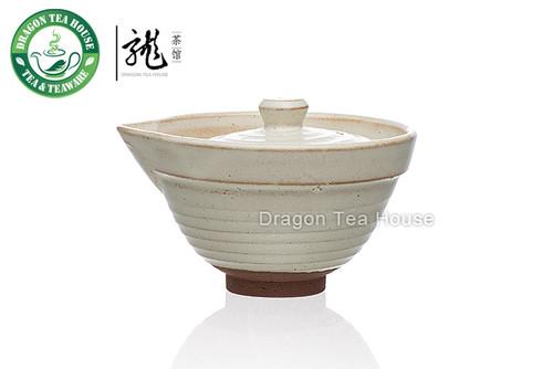 Handmade White Ceramic Gongfu Tea Gaiwan 100ml 3.38 oz