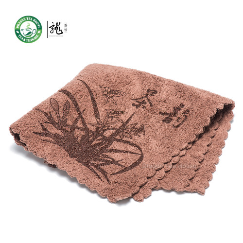High Quality Chinese Gongfu Tea Table Cleaning Cloth Towel 30*30cm Color: Brown