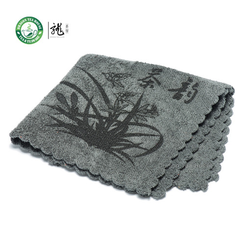 High Quality Chinese Gongfu Tea Table Cleaning Cloth Towel 30*30cm Color: Gray