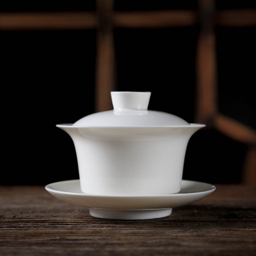Large White Gongfu Tea Porcelain Gaiwan 200ml 6.76 fl oz