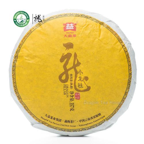 Dragon Pillar Menghai Dayi Puer Tea Cake 2013 357g Ripe Free Shipping