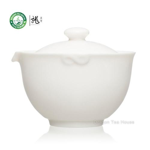 High Quality Fine Pure White Jade Porcelain China Gongfu Tea Cup Gaiwan 155ml