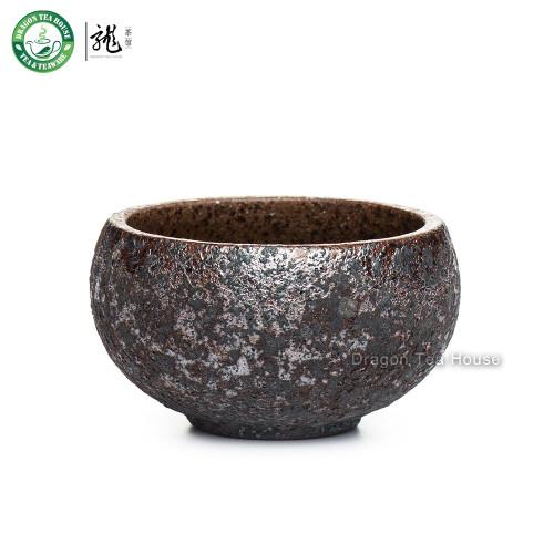 Handmade Wood Fired Chinese Teacup Gongfu Tea Serving Cup 50ml 1.69oz