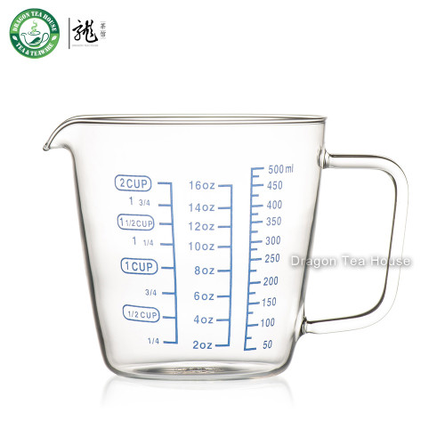 Lead-free Clear Glass Measuring Cup Three Scales 2-Cup 16oz 500ml