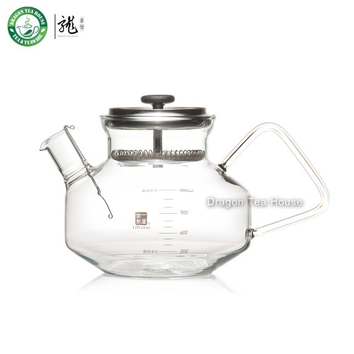 Lead-Free Heat Resistant Clear Glass Water Kettle Lid with Filter 1.2L FH-780SK