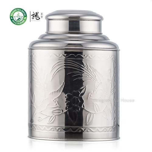 Extra Large Stainless Steel Canister Tea Caddy Container With Double Lid 5000ml