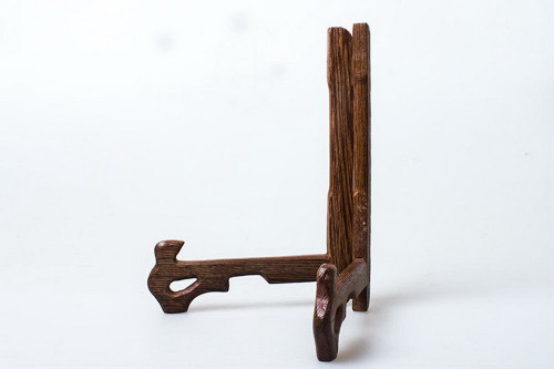 Natural Wenge Wood Stand for Pu-erh Tea Cake Plate Dish Picture Presentation