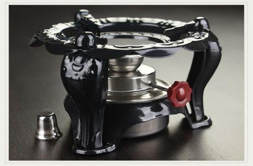 Three Legs Metal Adjustable Alcohol Stove Warmer Teapot Burner for Tea Ceramony