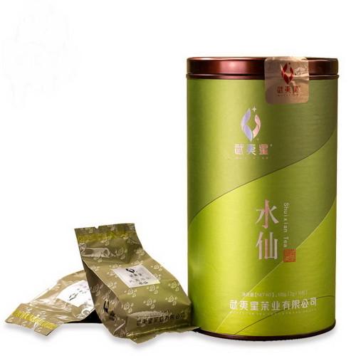 Wuyi Star New Shui Xian Fresh Shui Hsien Chinese Fujian Oolong Rock Tea Yan Cha 7gx15 Bags Complete Can