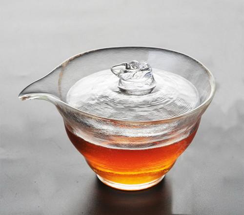 Handmade High Quality Satin Glass Gongfu Tea Gaiwan Brewing Vessel 120ml 4.05oz