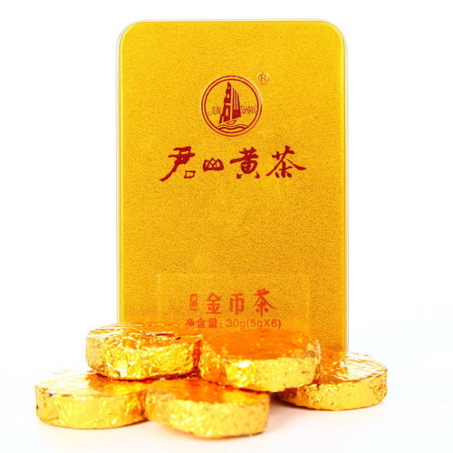 Hunan Junshan Huang Cha Jun Shan China Yellow Tea Mini Gold Coin Cakes 30g Box