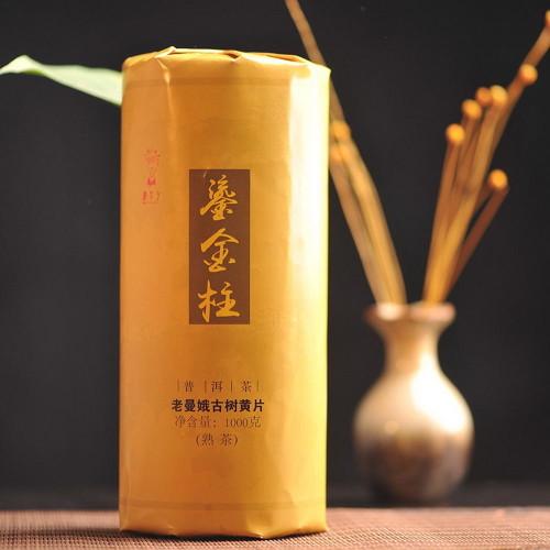 Dr. Pu'er Tea LaoManE Ancient Tree Golden Leaves Cylinder Pu-erh 2016 1000g Ripe