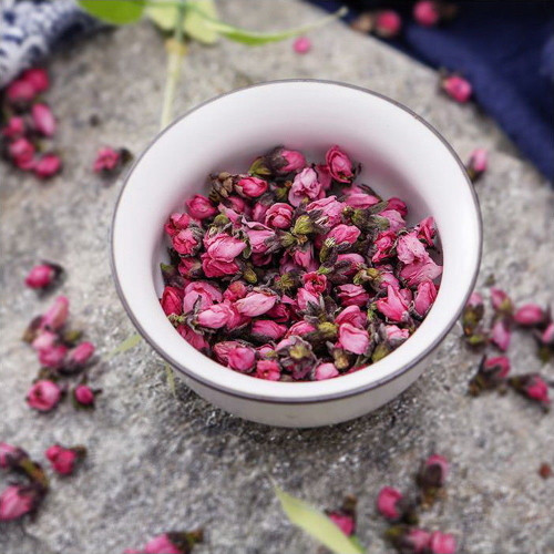 Organic Dried Peach Blossom Flower Bud Tao Hua Cha Natural Floral Tea 500g
