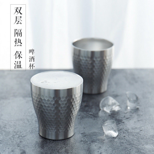 Stainless Steel Double Wall Heat Cold Insulated Coffee Tea Cup 250ml 8.45oz