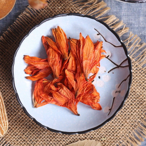 Organic Natural Chinese Orange Lily Flower Lilium Bai He Hua Dried Herbal Tea 500g