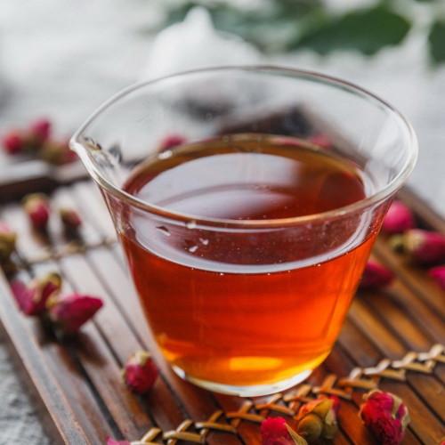 Premium Organic Rose Flavored Black Tea with Fragrant Real Rose Bud Petals 500g