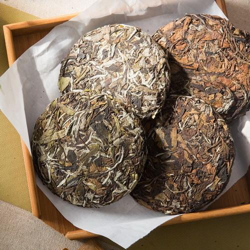 Aged Fuding High Mountain White Tea Cakes Set Bai Mu Dan & Shou Mei 100g x 4