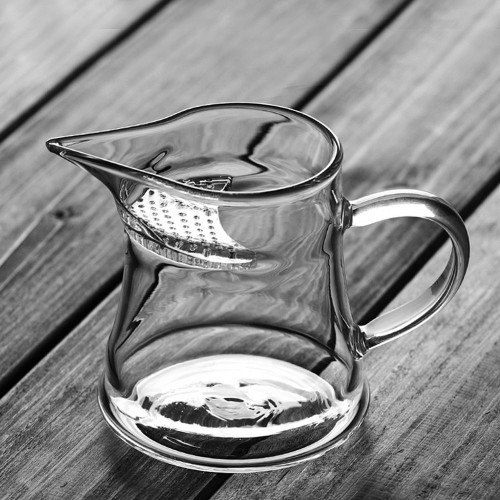 Glass Cha Hai Loose Leaf Tea Brewing & Serving Pitcher w/t In Built Filter 300ml