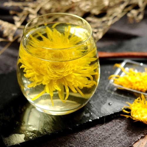 Organic Large Golden Chrysanthemum Flower Blossom Cooling Healing Floral Tea  20 Blomms