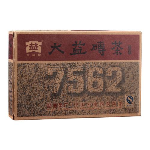 7562 * Menghai Dayi Pu-erh Tea Brick 2010 Ripe 100g