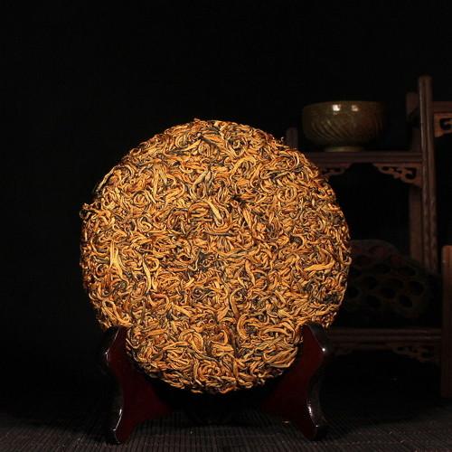 Fengqing Golden Snail Dianhong Dian Hong Yunnan Gold Black Tea Cake 200g