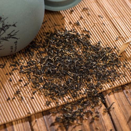 Organic Premium Smoky Dianhong Smoked Dian Hong Yunnan Gold Black Tea 500g