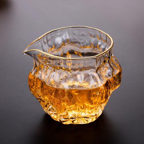 Ice Veins Clear Glass Kungfu Tea Serving Tea Pitcher Fair Cup Cha Hai 250ml