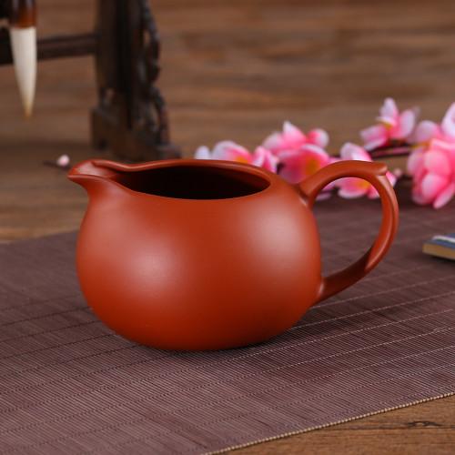 Large Yixing Zisha Clay Cha Hai Gongfu Tea Serving Pitcher Fair Cup 375ml 12.7oz Red
