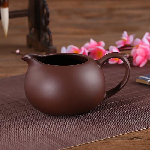Large Yixing Zisha Clay Cha Hai Gongfu Tea Serving Pitcher Fair Cup 375ml 12.7oz Brown