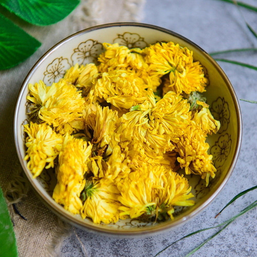 Premium Organic Wild Golden Yellow Chrysanthemum Flowers Floral Herbal Tea 500g