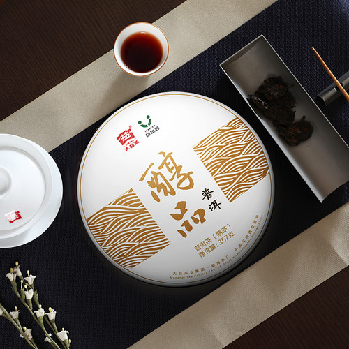 Mellow Taste Menghai Dayi Chunpin Yunnan Pu-erh Tea Cake 2018 357g Ripe
