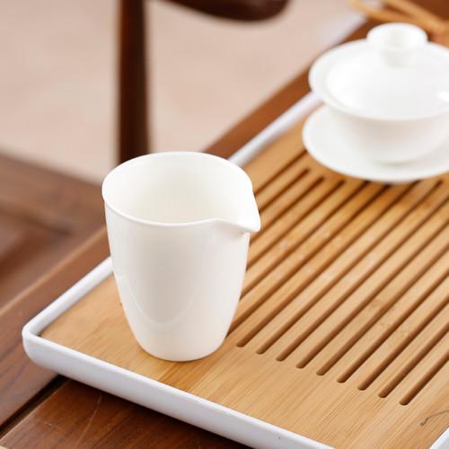 White Porcelain Cha Hai Gongfu Tea Serving Pitcher 200ml 6.76oz
