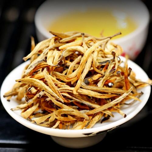 Supreme Organic Ancient Tree Golden Needles Dian Hong Yunnan Gold Black Tea 500g