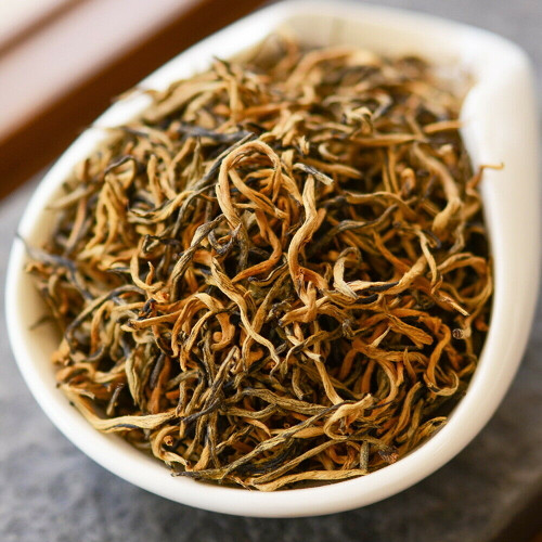 Supreme Organic Full Bud Golden Dian Hong Spring Harvest Yunnan Gold Black Tea 500g