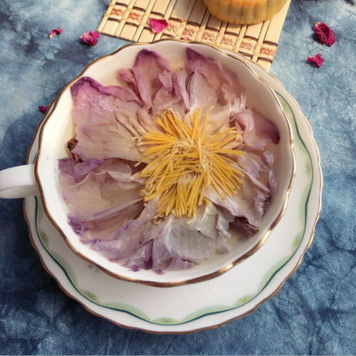 Organic Large Complete Blue Lotus Flower Tea Dried Nymphaea Caerulea Herbal Tea 4 Blooms