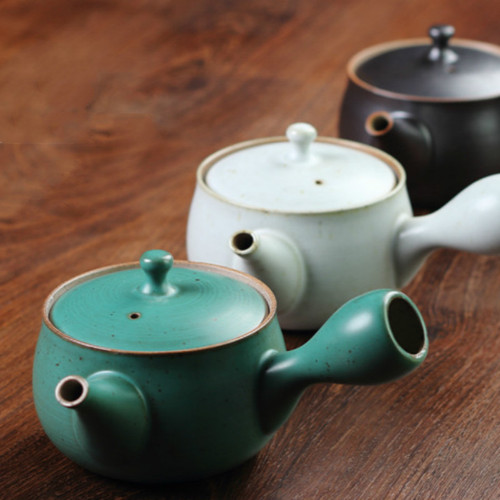 Retro Coarse Pottery Ceramic Chinese Kung Fu Tea Teapot 225ml