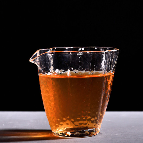 Begonia Creative Glass Fair Cup Of Tea Serving Pitcher Creamer 170ml