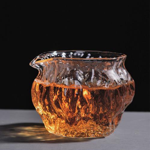 Creative Walnut Glass Fair Cup Of Tea Serving Pitcher Creamer 250ml